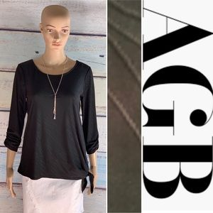 ADORABLE Black AGB Top and Necklace